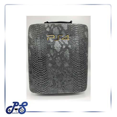 کیف ضد ضربه پنج کاره مخصوص ps4 و xbox - مدل چرم سوسماری سفید