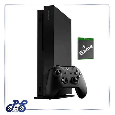 XBOX One X مشکی با بازی کپی کارکرده