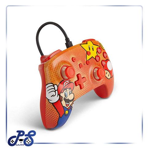 کنترلر PowerA Enhanced نینتندو سوییچ - طرح Super Mario Vintage
